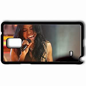 Personalized Samsung Note 4 Cell phone Case/Cover Skin Amerie Girl Singing Scene Microphone Black