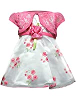 Youngland Little Girls' Woven Flower Party Dress with Shrug