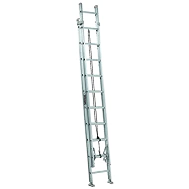 Louisville Ladder AE2220 Aluminum Extension Ladder 300-Pound Capacity, 20-Feet