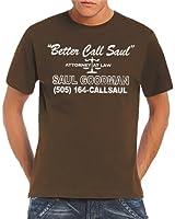 Touchlines Herren T-Shirt Better Call Saul Heisenberg Vintage