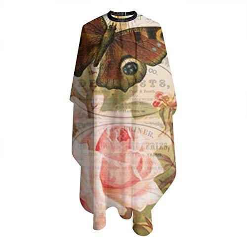 Haircut Apron Vintage Butterfly Stamp Flora Polyester Professional Salon Cape Haircut Apron Hair Cut Cape For Home 5566 In