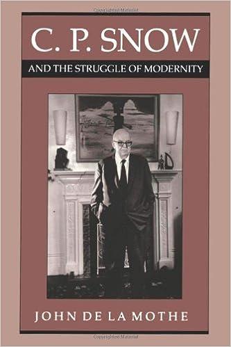 C. P. Snow and the Struggle of Modernity by John de la Mothe (2011-02-15)
