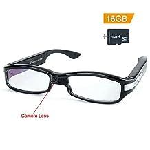Toughsty 16GB 1920x1080P HD Hidden Spy Camera Glasses Video Recorder