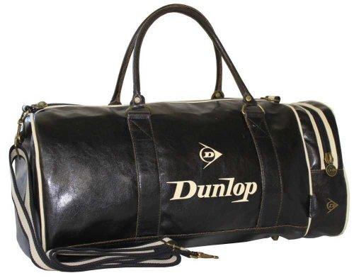 Dunlop - Bolsa deportiva para gimnasio, diseño retro, color negro negro