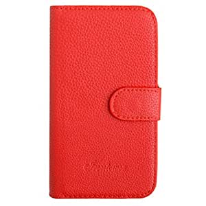 DUR Simple Leopard Grain Leather Case for Samsung Galaxy Grand I9082(Assorted Color) , Black