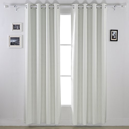off white curtains living room. Deconovo Wood Pattern Heavy Thick Grommet Top Blackout Curtains With Foam  Back Layer For Living Room 52 x 84 Inch 1 Pair Off White Amazon com