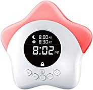 Learn & Climb Kids Ok to Come Out of Bed Clock - Kids Sleep Training Clock, Night Light &