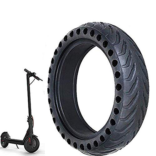 Ourleeme Mi Scooter Tires, Electric Scooter Tire Honeycomb Design,8.5In Rubber Solid Tire Front/Rear Tire,Replacement Wheels for Scooter ()