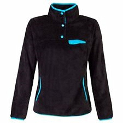 Free Pullover (Free Country Ladies Venture Butterpile Pullover ~ Black (Small))