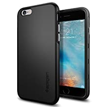 iPhone 6S Case, iPhone 6 Case, Spigen Thin Fit Hybrid - Premium SF Coated Non Slip Matte Surface Thin Case for Apple iPhone 6S / iPhone 6 - Black