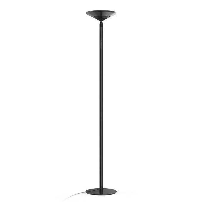 Avantica 922B Lámpara de pie LED -Luz calida 30W, Temperatura del color 3000K -3500K , 3750 Lúmenes, Ajustable en Altura, Control Táctil, Brillo de 5 ...