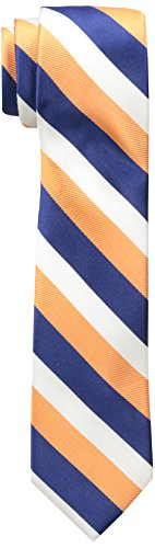 Wembley Big Boys Wembley Boys Tri-color Stripe Tie, Orange, OS