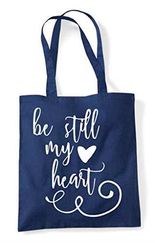 My Be Heart Navy Bag Romantic Tote Statement Still Shopper 6wqP5wf