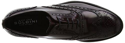 SOLDINI Herren 18635-l-n88 Brogue-Schuhe Rosso (Bordeaux)