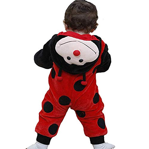Tonwhar Unisex-Baby Animal Onesie Costume Cartoon Outfit Homewear (120:Ages 30-36 Months, Ladybug)
