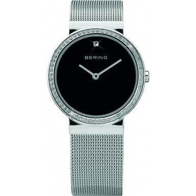 BERING Time 10725-012 Womens Classic Collection Watch with Mesh Band and scratch resistant sapphire crystal. Designed in Denmark.