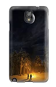 PgzagTY7795PKsEb Case Cover, Fashionable Galaxy Note 3 Case - Campfire Background