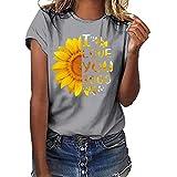 I Love You 3000 Women Plus Size Print Shirt Short Sleeve T Shirt Blouse Tops Gray