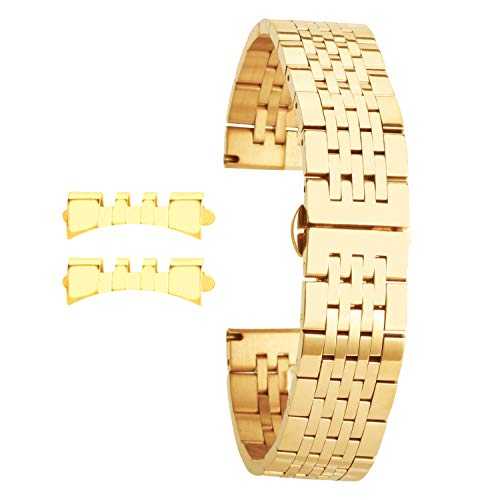 - Gold Watch Band for Womens 16mm Luxury Watch Strap Bracelet Replacement
