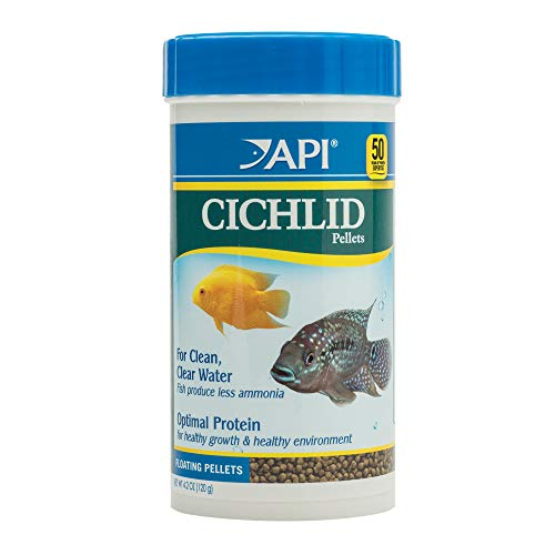 (API CICHLID PELLETS Floating Pellets Fish Food 4.2-Ounce Container)