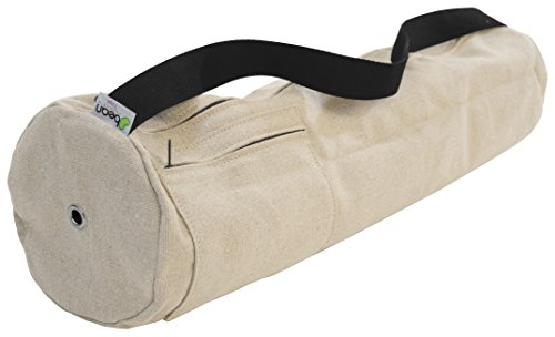 Yoga Mat Bag 100% Hemp, Large or Extra Large (fits all Jade and Manduka Mats) By Bean Products Made in USA