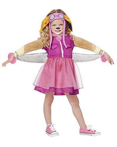 PAW Patrol Costume Deluxe for Toddlers - Skye | Officially Licensed Pink -