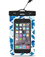 """JOTO Universal Waterproof Pouch Cellphone Dry Bag Case for iPhone 13 Pro Max Mini, 12 11 Pro Max Xs Max XR X 8 7 6S Plus SE, Galaxy S20 S20+ S10 Plus S10e /Note 10+ 9, Pixel 4 XL up to 7"""""""