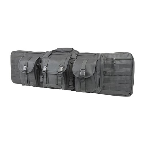 NC Star Double Carbine Case, Urban Gray, - 50 Case Inch Gun