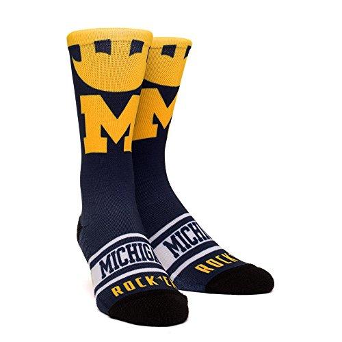 - NCAA Super Premium College Fan Socks (L/XL, Michigan Wolverines - Helmet Series)