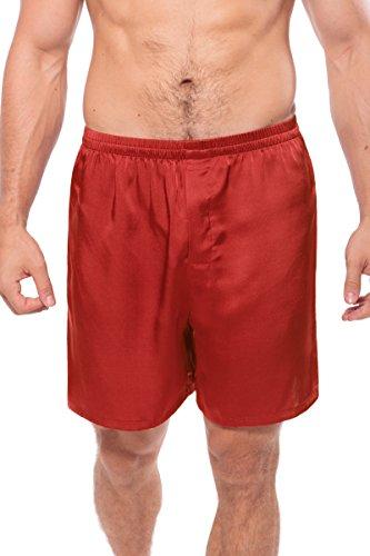 Button Fly Boyshort (TexereSilk Men's Boxer - Small - Castle Red)