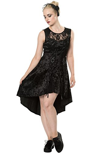 5207 CANDY Banned DRESS SKULL Kleid Black qwqfrRIEC