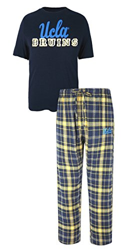 Concepts Sport UCLA Bruins NCAA Game Time Men's T-Shirt & Flannel Pajama Sleep Set (Drawstring Ncaa Ucla Bruins)