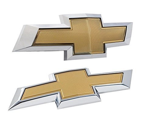 2010-2013 Camaro Front Grille Rear Trunk Gold Chrome Bowtie Emblems