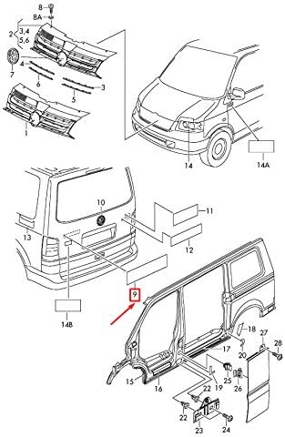 emblema 7H0853687739 GTV INVERSI/ÓN Transporter T5 Insignia de transporte para maletero trasero