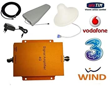 Amplificador repetidor de señal 4G LTE GSM UMTS. Antena Tim, Wind, Vodafone,