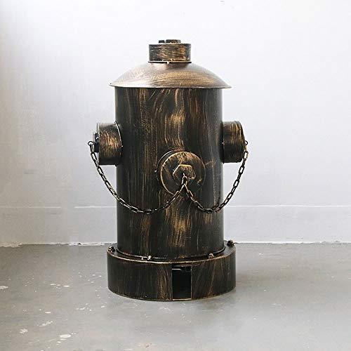 (MHFKF Trash Can, Retro Creative Industrial Wind Fire Hydrant Trash Can, Living Room Hotel Bathroom Bar Café Restaurant Pedal Wrought Iron Decorative Ornaments Trash Can (Bronze))