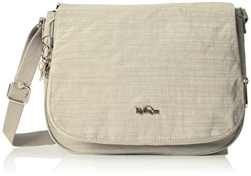 Kipling Earthbeat M, Borsa A Donna Tracolla, 30x22,5x10,5 cm Bianco (Crème dazz)