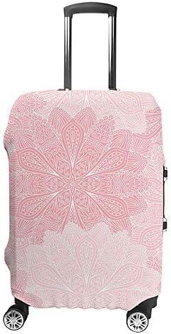 スーツケースカバー トラベルケース 荷物カバー 弾性素材 傷を防ぐ ほこりや汚れを防ぐ 個性 出張 男性と女性エレガントな花の背景