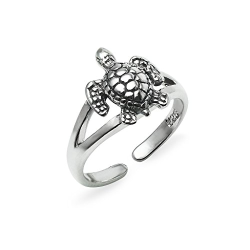 Sterling Silver Toe Ring Turtle Small Size Jewelry For ()