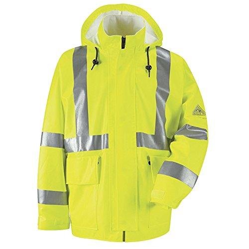 Bulwark - Hi-Visibility Flame-Resistant Rain Jacket HRC2 Size (Bulwark Hi Visibility)