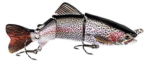 "Eye Candy 6"" Jointed Lifelike Rainbow Trout Swimbait Hard Fishing Lure (Rainbow Trout Pink)"
