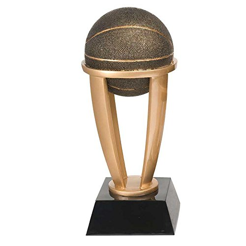 Decade Awards Basketball Gold Tower Trophy - Hoops Award - 13 Inch Tall - Customize Now