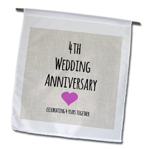 Amazon.com : 3dRose fl_154431_1 4th Wedding Linen Celebrating 4 ...