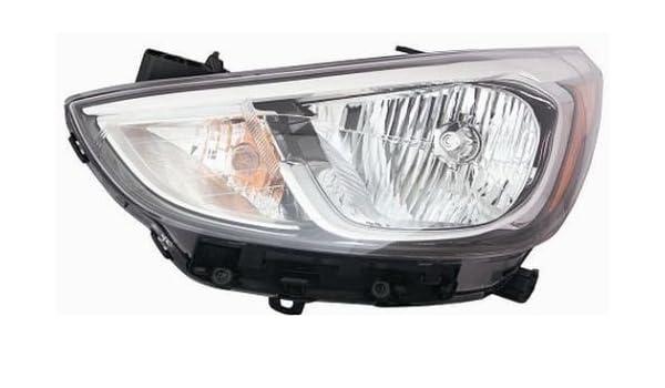 For 2016 Hyundai Accent Sedan Headlight Headlamp Passenger Side