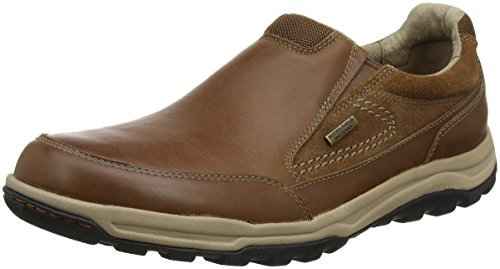 Technique Tan Mocasines para Marrón Hombre Waterproof Trail Rockport Slipon 7q5fz7w