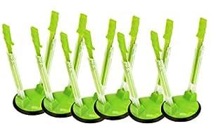 Jokari Hands-Free Baggy Rack Clip Storage Bag Holder, Pack of 6