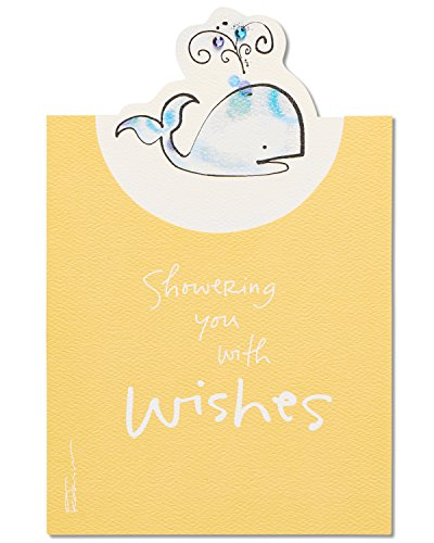 American Greetings Whale Baby Shower Congratulations Card with Glitter