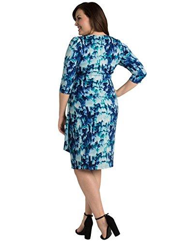 Kiyonna Women's Plus Size Ciara Cinch Dress 1X Indigo Rain