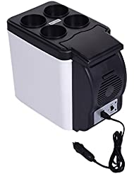 6L 12V Portable Car Home Dual Use Thermoelectric Cooler/Warmer Electric Fridge Travel Refrigerator