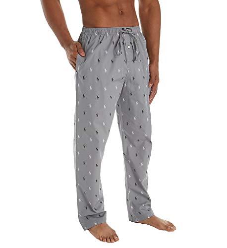 - Polo Ralph Lauren Men's All Over Pony Print PJ Pants Museum Grey/Polo Black/White All Over Pony Print Large